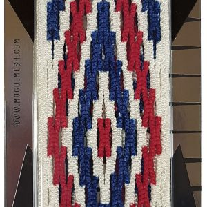 Red Blue Invader Lacrosse Dyed Mesh