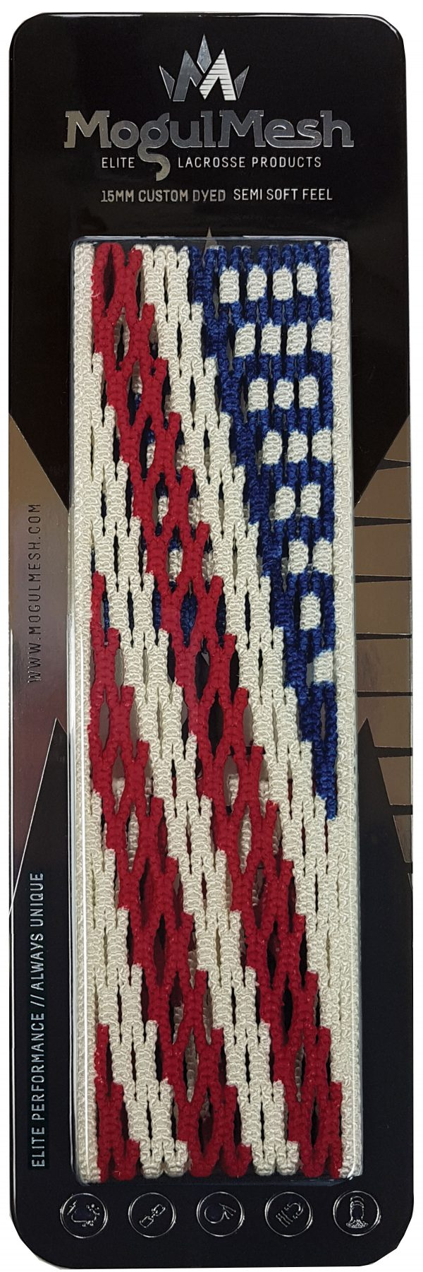 US Flag Dyed Lacrosse Mesh