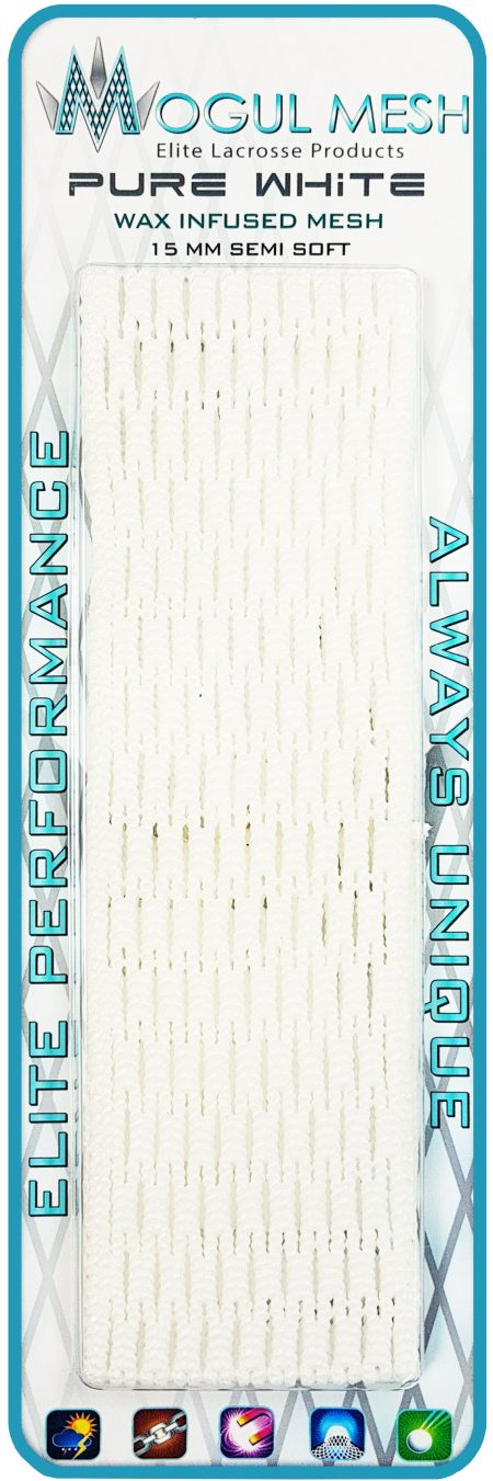 Pure White Waxed Lacrosse Mesh